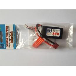 Batterie Lipo 2S 7.4v 800MAH prise dean RFI power