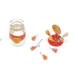 Boite de sucettes  Lollipop déco Team Raffee