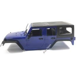 Carrosserie abs Jeep  Rubicon 5 pts Bleue en kit 1/10e 313mm Team Raffee