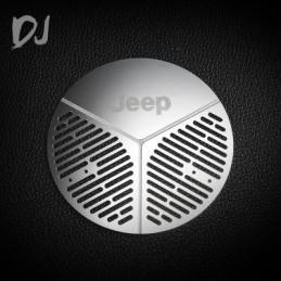 Enjoliveur de roue de secours métal silver pour Jeep  Team DC