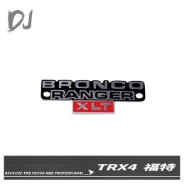 Logo déco métal 1/10e pour TRX4 Bronco Team DC