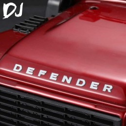 Autocollants Logos metal  Defender et Land Rover Team DC