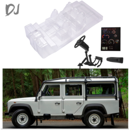 Interieur lexan simulation pour TRX4 land rover defender Team DC