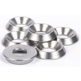 Rondelle cuvette aluminium silver M3 (10)