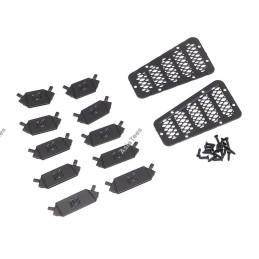 Grilles de prise d'air capot métal noires D90 /d110 Team DC